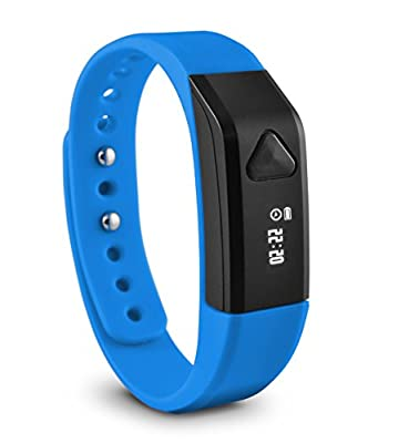 Ematic Ematic TrackBand Wireless Activity & Sleep Tracker - Wearable Tech - Retail Packaging - Blue