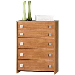 Cassettiera com kit design moderna legno ciliegio ct5043 for Cassettiera amazon