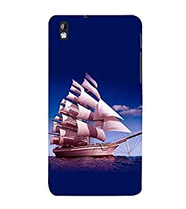 printtech Ship Water Sea Back Case Cover for HTC Desire 816::HTC Desire 816 G