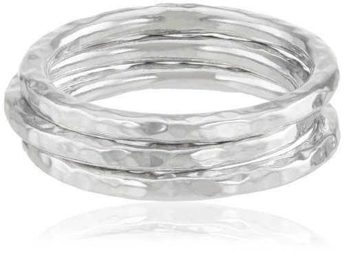 Adina Reyter Sterling Silver Circle Stack Set Of 3 Rings, Size 7