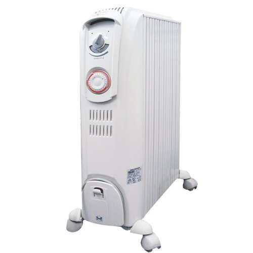 De'Longhi Dragon 3 TRD0820T Oil Filled Radiator with Timer, 2 kW