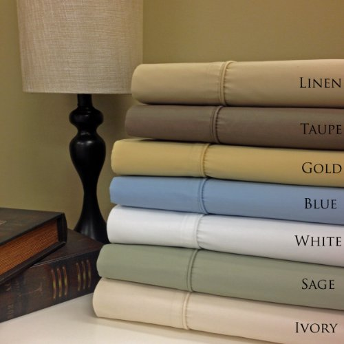 "Twin Extra Long Size Sage Wrinkle Free 650Tc Egyptian Cotton Sheet Set, Includes: One Flat Sheet 70X102"", One Fitted Sheet 39X80""And One Pillowcase 20X30"". front-1025794"