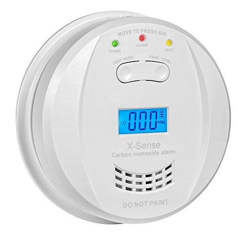 CO Melder Kohlenmonoxidmelder Warngerät Warnmelder Carbon Monoxide CO Detector mit Digitaler Anzeige, Batteriebetrieben, CO03JF
