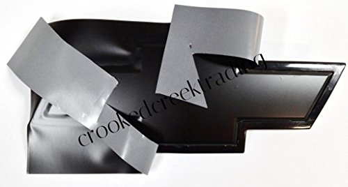 DownardWrapsTM Black Matte Vinyl Decals (overlays) You-Cut Chevy Bowtie Emblem Covers from (2) 11