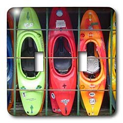 Water Sport - Kayak - Light Switch Covers - double toggle switch