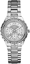 GUESS U0111L1 Silver-Tone Sparkling Watch