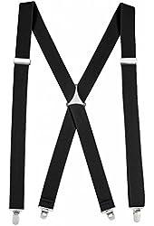 Hold'Em Men's Elastic X-back Adjustable Straight Clip-on Suspender