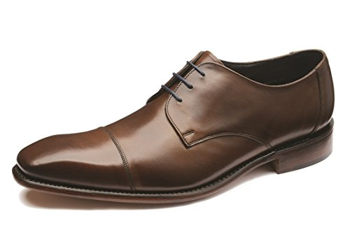 loake-hombres-dark-marron-keats-derby-zapatos-uk-7