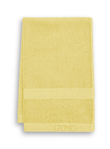 GUND Bear Essential Ringspun Hand Towel, Lemon, 16'' By 26''
