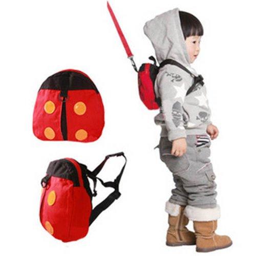 Cute Ladybug Style Kid Child Toddler Safety Harness Backpack Bag Lead Strap Knapsack front-704729