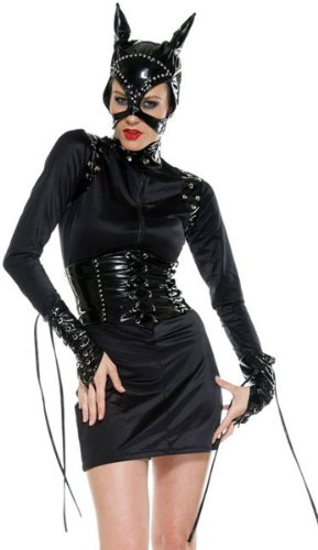 Forplay Sexy Feline Woman Black Cat Outfit Halloween Costume
