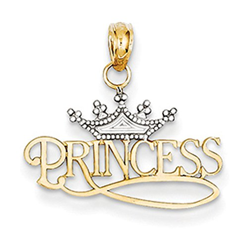 14K-Yellow-Gold-Rhodium-Polished-Princess-with-Crown-Pendant