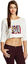 Disney by Genes Women's Body Blouse Shirt (CHD15-016KTBLO_Vellum_Small)
