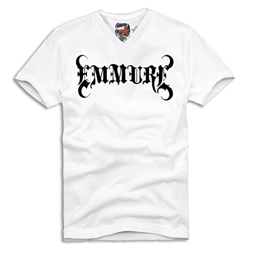 "E1SYNDICATE ""EMMURE"" V-NECK T-SHIRT HARD CORE DEATH CORE CHELSEA GRIN ATTILA S/M/L/XL"