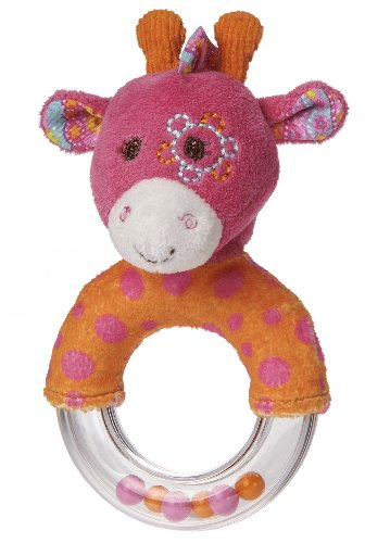 "Mary Meyer Jasmine 5"" Ring Rattle, Giraffe - 1"