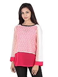 Ethnic For You Pink Georgette Top
