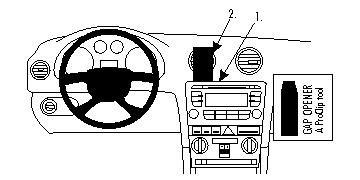 Brodit 853989 ProClip für Audi A3/S3 07-08 Center Mount schwarz