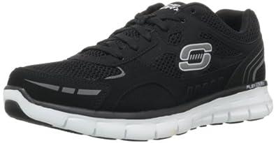 Skechers Sport Men's Synergy Over Haul Memory Foam Sneaker,Black/White,8 M US