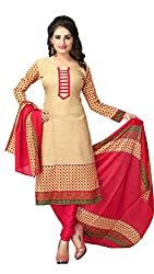 V-Kart Women's Cotton Unstitched Dress Material (Vkart_347_Grey_Free Size)