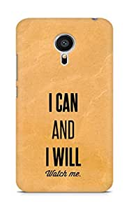 AMEZ i can and i will watch me Back Cover For Meizu MX5