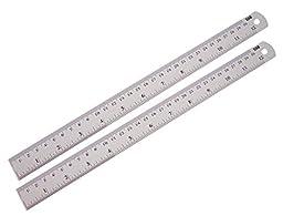 Aluminum Ruler Set 2 Pcs, 12 Inches.
