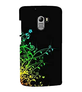 printtech Colorful Vine Abstract Back Case Cover for Lenovo K4