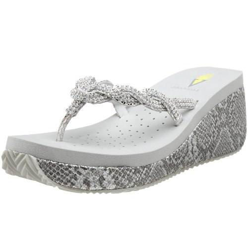 4b29a8b08c2a9 Volatile Women s Avery Thong Sandal Sale Volatile Avery.Lightweight and  comfortable thong sandals on a 2 1 2 inches high wedge. Avery is available  in black