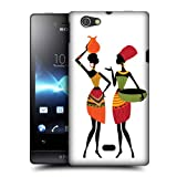 Head Case Designs Gossip African Pattern Protective Snap-on Hard Back Case Cover for Sony Xperia miro ST23i
