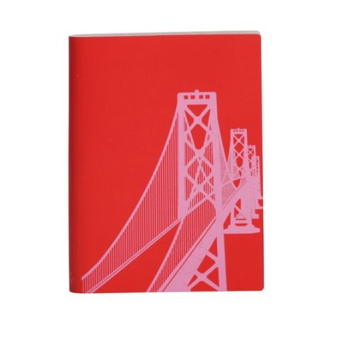 paperthinks-carnet-de-poche-rouge-coquelicot-san-francisco-oakland-bay-bridge-grand-carnet-de-notes-