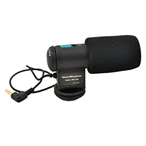 DSTE MIC-109 28cm Stereo Microphone for Camera Nikon 7D 5DII 550D 60D Sony CX550E with 3.5mm microphone input socket