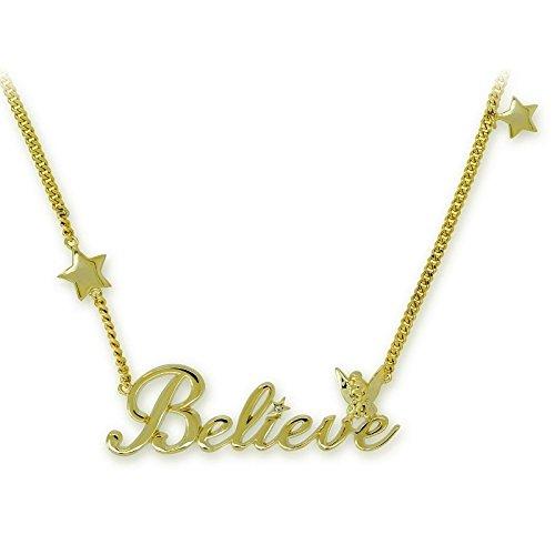 """Disney Couture-Collana Classic in oro 14 kt, con Campanellino """"Believe"""""""