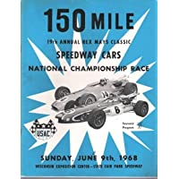 1968 150 Mile 19th Annual Rex Mays Classic Speedway Cars National Championship Souvenir Race Program