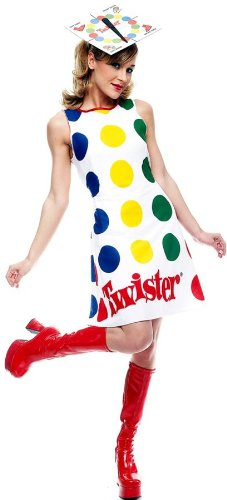 Paper Magic Women's Adult Twister Dress And Hat,Twister,Medium