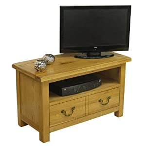 NEWARK   SOLID CHUNKY OAK SMALL TV DVD VIDEO UNIT WIDESCREEN CABINET PLASMA STAND       review