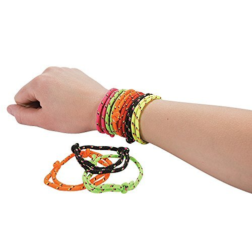 Fun Express 72 Nylon Friendship Rope Bracelets - 1