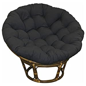 Amazon.com: Large Black 44 Inch Microsuede Papasan Round Lounge Chair Seat Cushion Pillow for ...