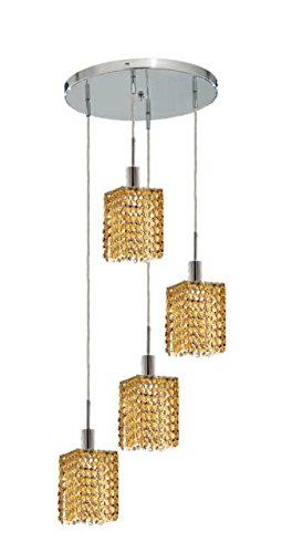 "Wiatt 4-Light 9.5""D Crystal Ceiling Pendant 1092D-R-S-Lt-Rc"