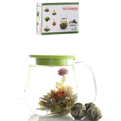 12 Blooming Flowering Green Tea Gift Box (Jasmine)