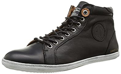 Pepe Jeans London WILLIAM LEATHER, Herren Combat Boots, Schwarz (BLACK 999), 44 EU (9.5 Herren UK)