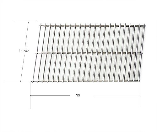 Arkla, Broilmaster, Charbroil, Charmglow, Fiesta, Kenmore, Patio Kitchen, Sterling, Sunbeam and Turco Gas Grill Stainless Steel Grate