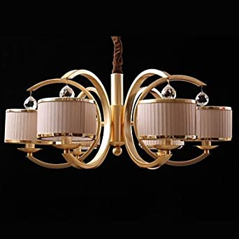 6 lights modern crystal chandelier lighting for Contemporary chandeliers amazon
