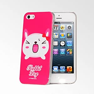 FvnnyEve Cute Pets iPhone 5S/5 Cases - Hot Pink Rabbit Dog ...