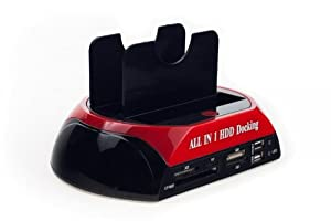 "NEON All-in-one Dual HDD Docking Station for 2.5""/3.5"" HDD SATA/IDE, card reader"