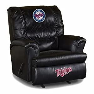 MLB Minnesota Twins Big Daddy Leather Recliner by Imperial