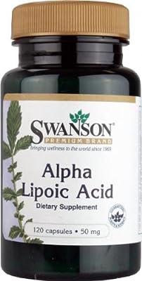 Swanson Alpha Lipoic Acid 50mg, 120 Capsules