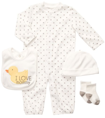 Carter'S Unisex Baby 4-Piece Layette Set - Neutral - 3 Months front-12930