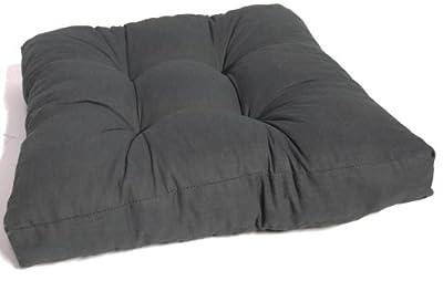 Premium Lounge Sitzkissen Auflagen Polster mit Reissverschlüssen für Rattan Möbel und Garten Loungegruppen in der Farbe anthrazit ca. 80 x 80 cm ca. 10 cm dick von Gartenstuhl-Kissen bei Gartenmöbel von Du und Dein Garten