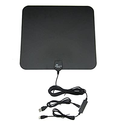 Suriora for Amplified Digital Indoor and Outdoor 50 Mile TV Antenna Flat Design Hign Gain HDTV VHF UHF TV Antenna
