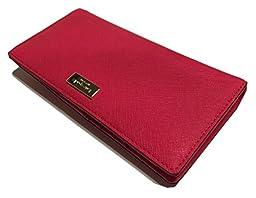 Kate Spade Newbury Lane Stacy Saffiano Leather Clutch Wallet WLRU1601 (Desert Rose)