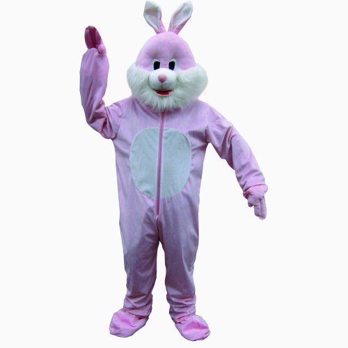 Dress Up America Rabbit Mascot, Pink, One Size